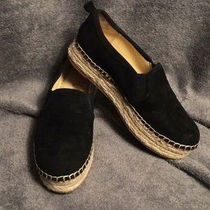 Sam Edelman Black Suede Shoes Size 6 Wedge Sole